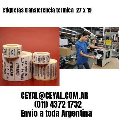 etiquetas transferencia termica  27 x 19