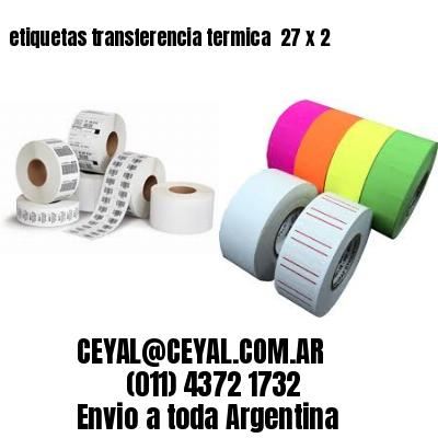etiquetas transferencia termica  27 x 2