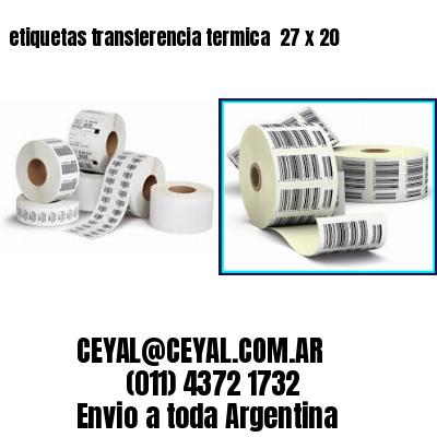 etiquetas transferencia termica  27 x 20