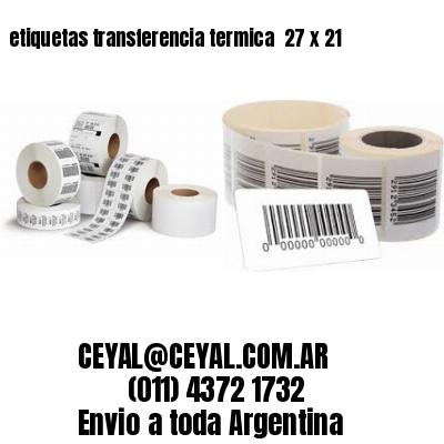 etiquetas transferencia termica  27 x 21