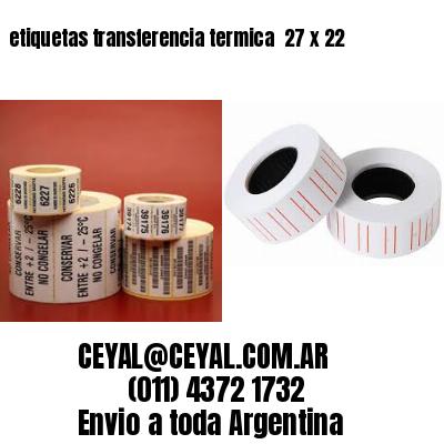etiquetas transferencia termica  27 x 22