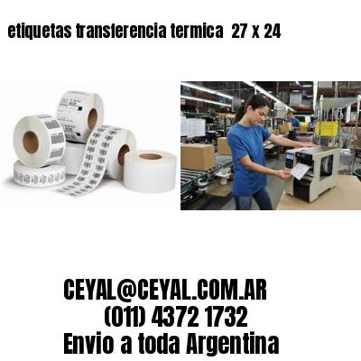 etiquetas transferencia termica  27 x 24