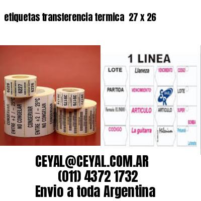 etiquetas transferencia termica  27 x 26