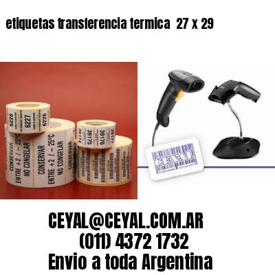 etiquetas transferencia termica  27 x 29