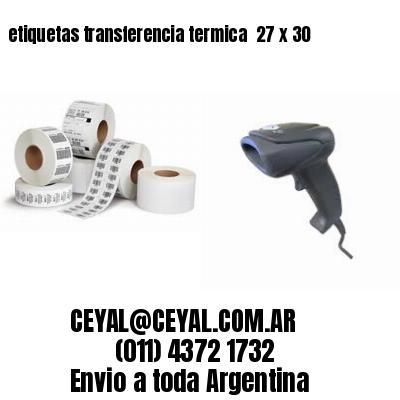 etiquetas transferencia termica  27 x 30