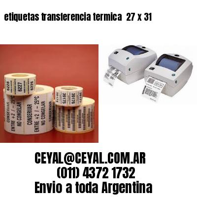 etiquetas transferencia termica  27 x 31
