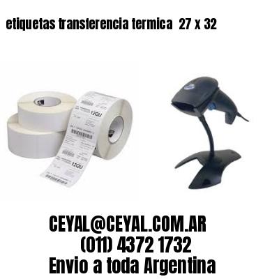 etiquetas transferencia termica  27 x 32