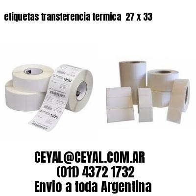etiquetas transferencia termica  27 x 33
