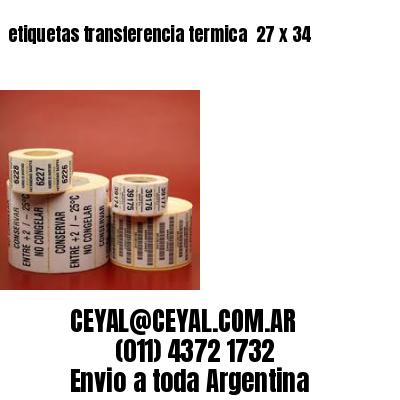 etiquetas transferencia termica  27 x 34