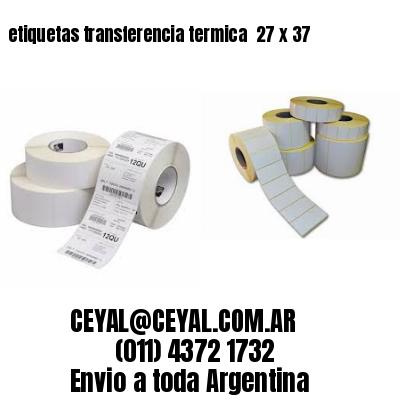 etiquetas transferencia termica  27 x 37
