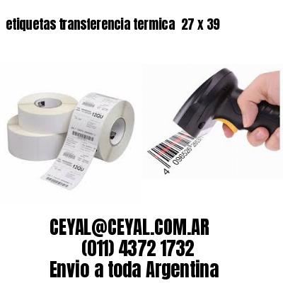 etiquetas transferencia termica  27 x 39