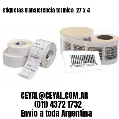 etiquetas transferencia termica  27 x 4
