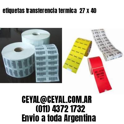 etiquetas transferencia termica  27 x 40