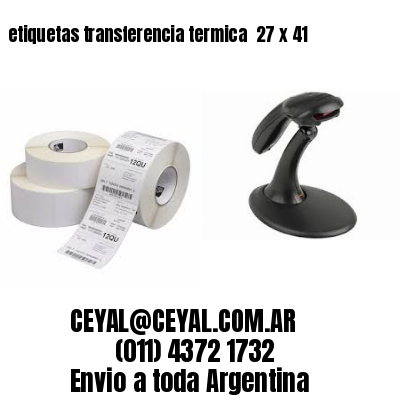 etiquetas transferencia termica  27 x 41