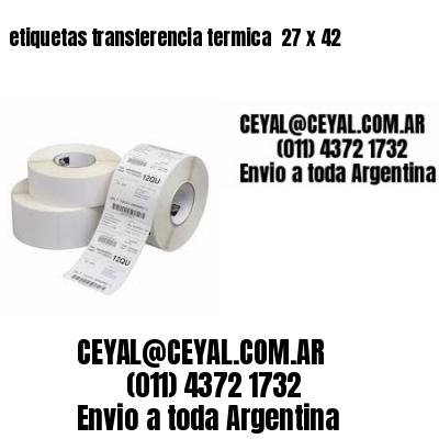 etiquetas transferencia termica  27 x 42