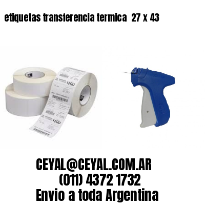etiquetas transferencia termica  27 x 43