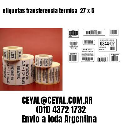 etiquetas transferencia termica  27 x 5
