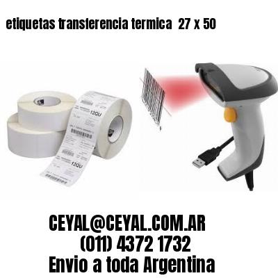 etiquetas transferencia termica  27 x 50