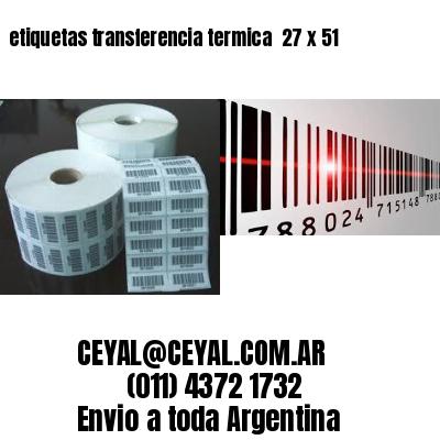 etiquetas transferencia termica  27 x 51
