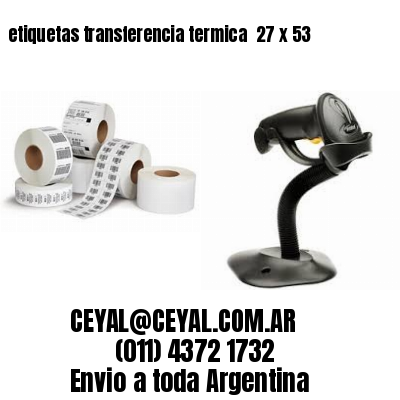 etiquetas transferencia termica  27 x 53