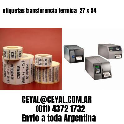 etiquetas transferencia termica  27 x 54