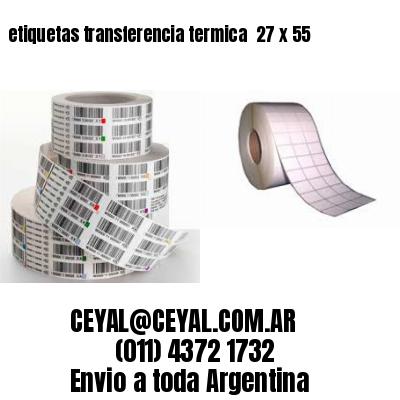 etiquetas transferencia termica  27 x 55