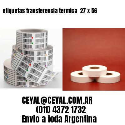 etiquetas transferencia termica  27 x 56