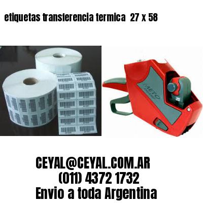 etiquetas transferencia termica  27 x 58