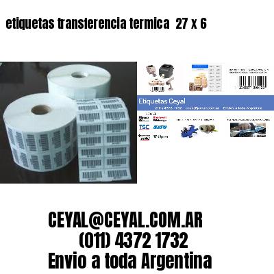 etiquetas transferencia termica  27 x 6