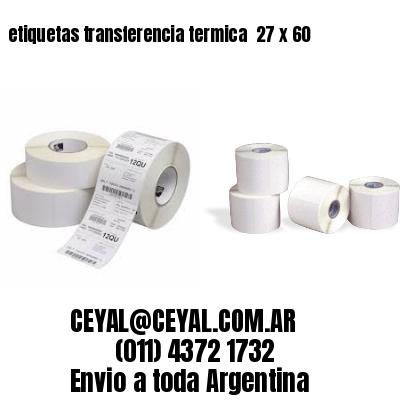 etiquetas transferencia termica  27 x 60
