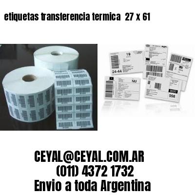 etiquetas transferencia termica  27 x 61