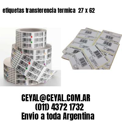 etiquetas transferencia termica  27 x 62