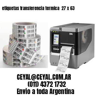 etiquetas transferencia termica  27 x 63