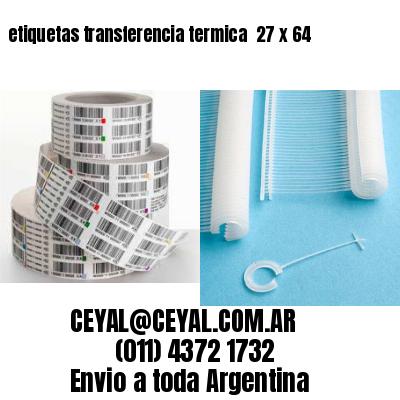 etiquetas transferencia termica  27 x 64