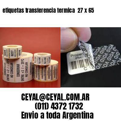 etiquetas transferencia termica  27 x 65