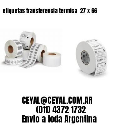 etiquetas transferencia termica  27 x 66