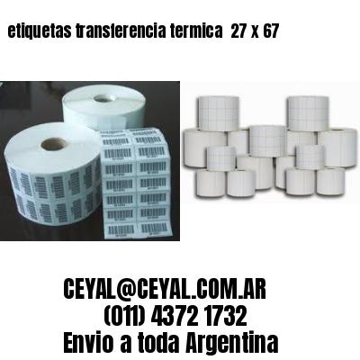 etiquetas transferencia termica  27 x 67