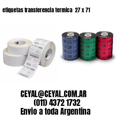 etiquetas transferencia termica  27 x 71