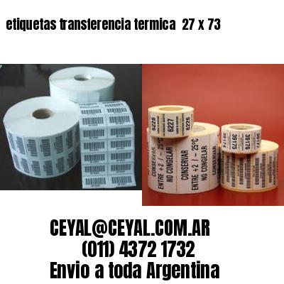 etiquetas transferencia termica  27 x 73