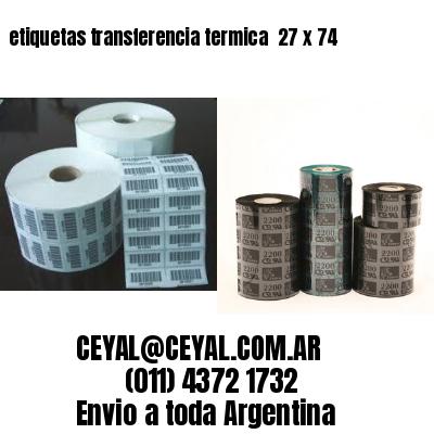 etiquetas transferencia termica  27 x 74