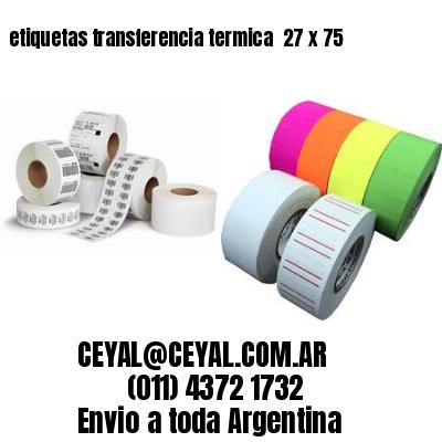 etiquetas transferencia termica  27 x 75