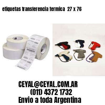 etiquetas transferencia termica  27 x 76