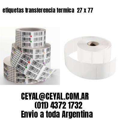 etiquetas transferencia termica  27 x 77