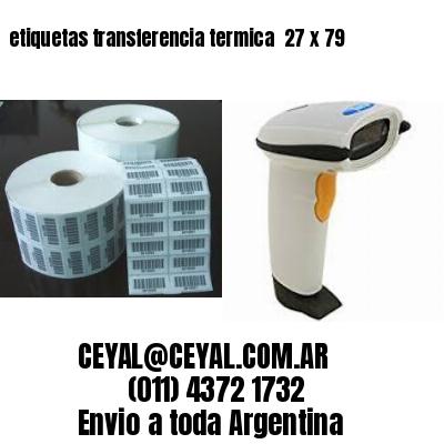 etiquetas transferencia termica  27 x 79