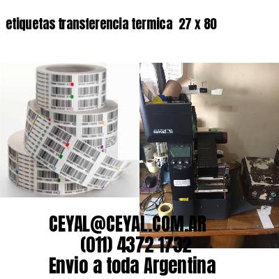 etiquetas transferencia termica  27 x 80