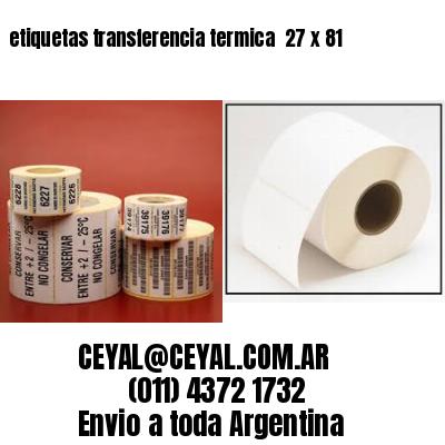 etiquetas transferencia termica  27 x 81