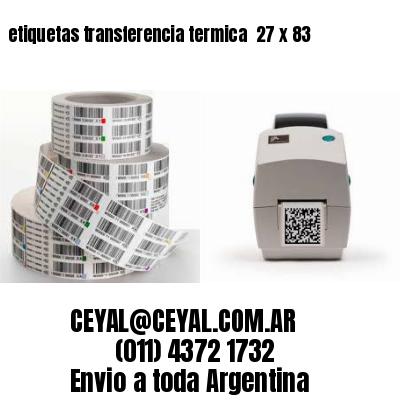 etiquetas transferencia termica  27 x 83