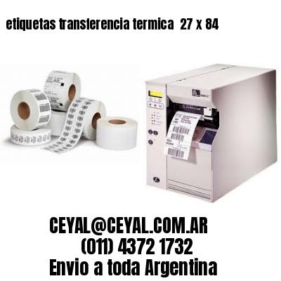 etiquetas transferencia termica  27 x 84