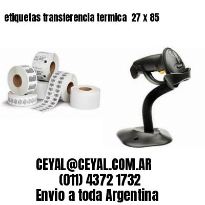 etiquetas transferencia termica  27 x 85