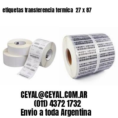 etiquetas transferencia termica  27 x 87